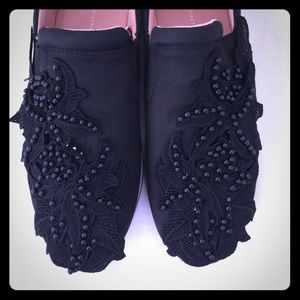 NWT Zara Sneakers with Floral Detail.